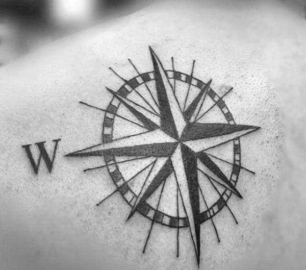 20 Simple Nautical Star Tattoos Shoulder Ideas And Designs