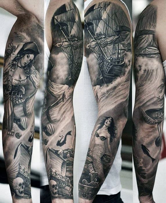 3d Tattoos Sleeves : tattoos, sleeves, Sleeve, Tattoos, Three, Dimensional, Design, Ideas