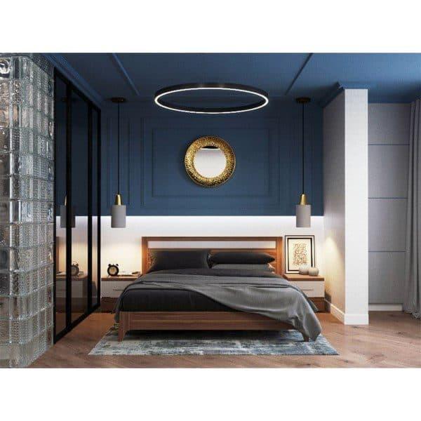Top 50 Best Navy Blue Bedroom Design Ideas Calming Wall Colors