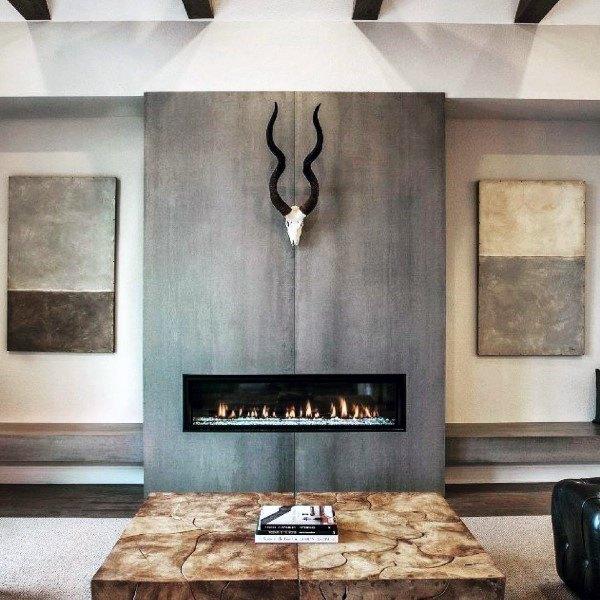 stacked stone kitchen backsplash round table set top 60 best concrete fireplace designs - minimalistic ...