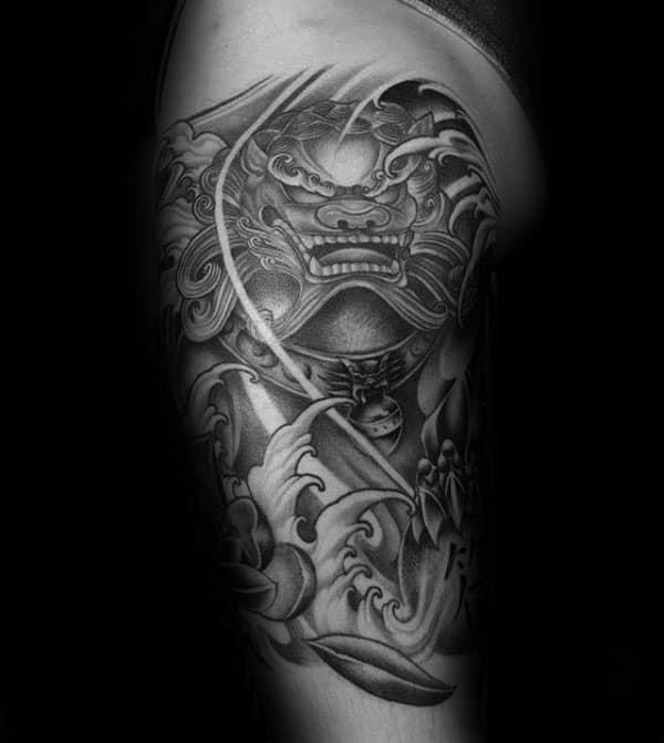Foo Dog Tattoo Half Sleeve