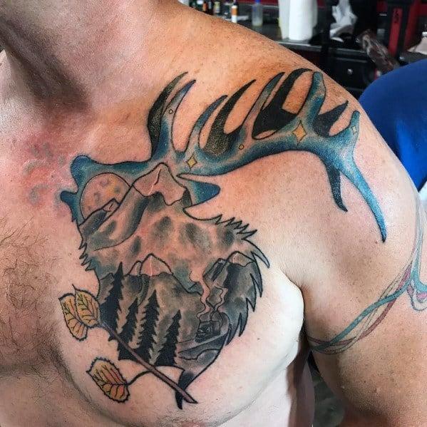 20 Animal Elk Tattoos Men Ideas And Designs