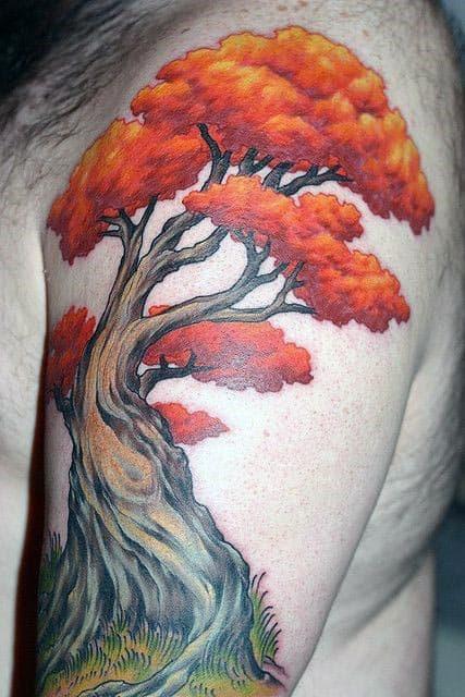 Bonsai Tree Tattoo : bonsai, tattoo, Bonsai, Tattoo, Designs, Ideas