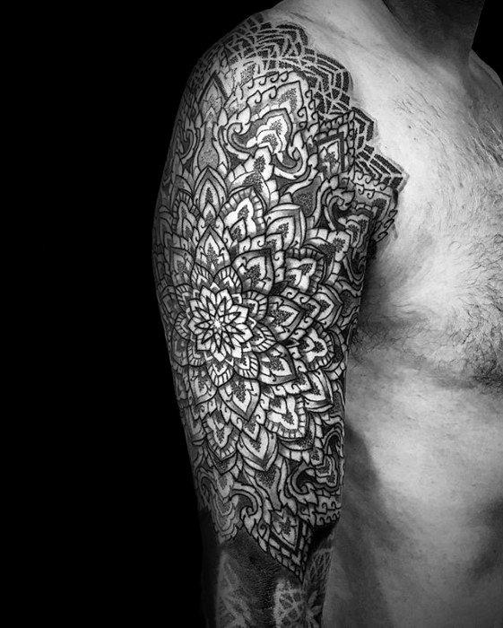 Geometric Half Sleeve Tattoo : geometric, sleeve, tattoo, Geometric, Sleeve, Tattoo, Ideas, [2021, Inspiration, Guide]