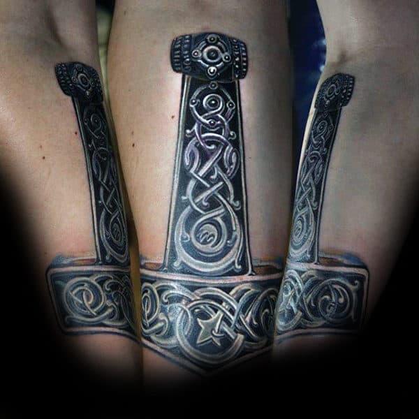 70 Mjolnir Tattoo Designs For Men  Hammer Of Thor Ideas