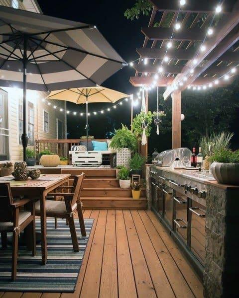 outdoor kitchen patio ideas backsplash home depot top 60 best chef inspired backyard designs