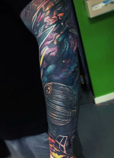 outer space tattoos men