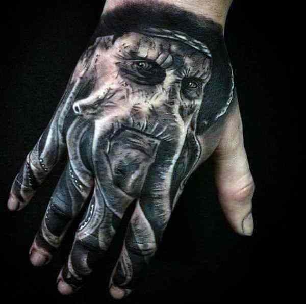 20 Pirate Hand Tattoos Ideas And Designs