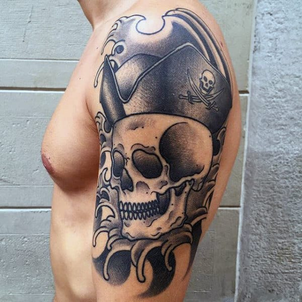 20 Pirates Black Flag Tattoos For Men Ideas And Designs