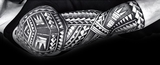 Maori Arm Sleeve Tattoo Stencils