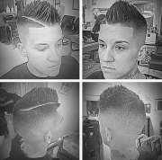 faux hawk fade haircut men