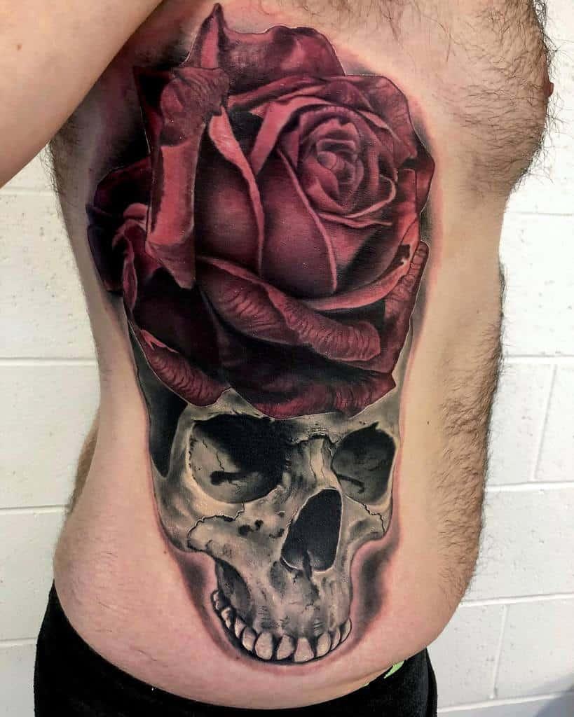 Rose And Skull Tattoo : skull, tattoo, Skull, Tattoo, Ideas, [2021, Inspiration, Guide]