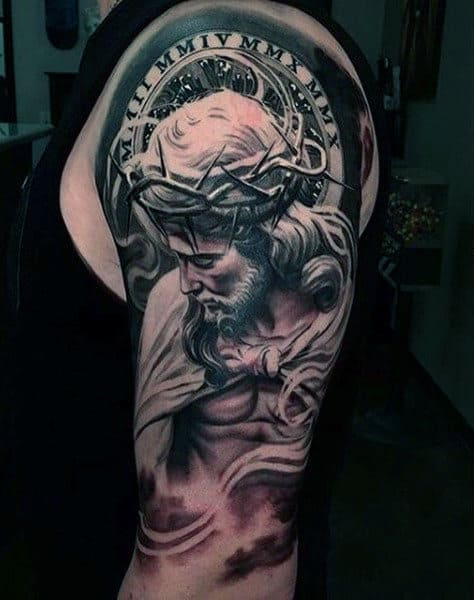 Religious Tattoos Sleeves : religious, tattoos, sleeves, Religious, Sleeve, Tattoo, Ideas, [2021, Inspiration, Guide]