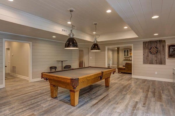 kitchen track lighting fixtures tabletops top 60 best basement ideas - illuminated interior ...