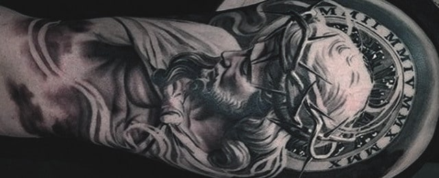 Religious Half Sleeve Arm Tattoos For Men