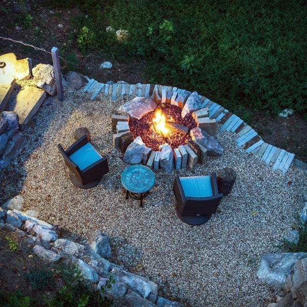 Remarkable Fire Pit Ideas For Gravel Patio