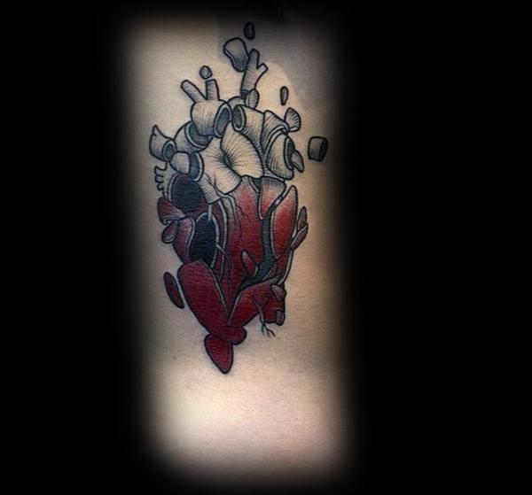 20 Male Broken Heart Tattoos Ideas And Designs