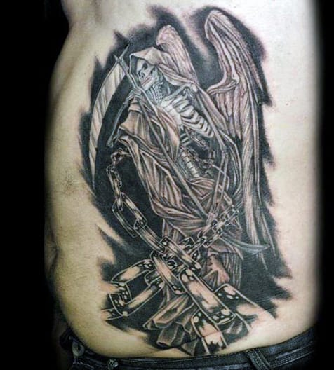 grim reaper tattoos men