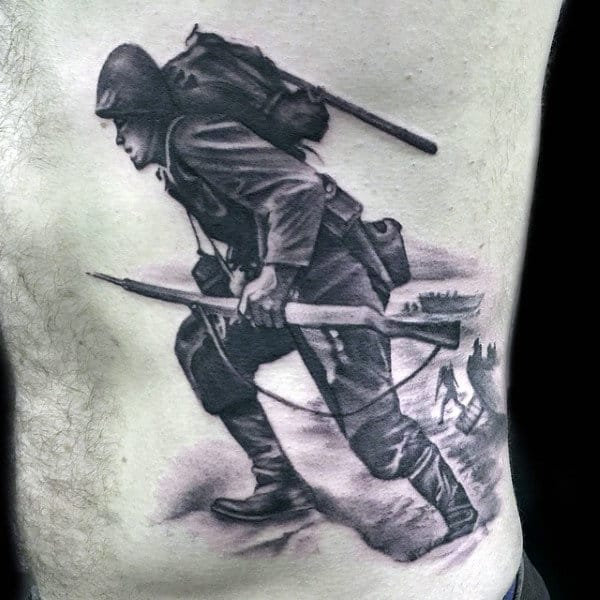 Soldier Tattoo Designs For Men
