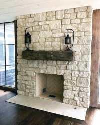 Top 70 Best Stone Fireplace Design Ideas