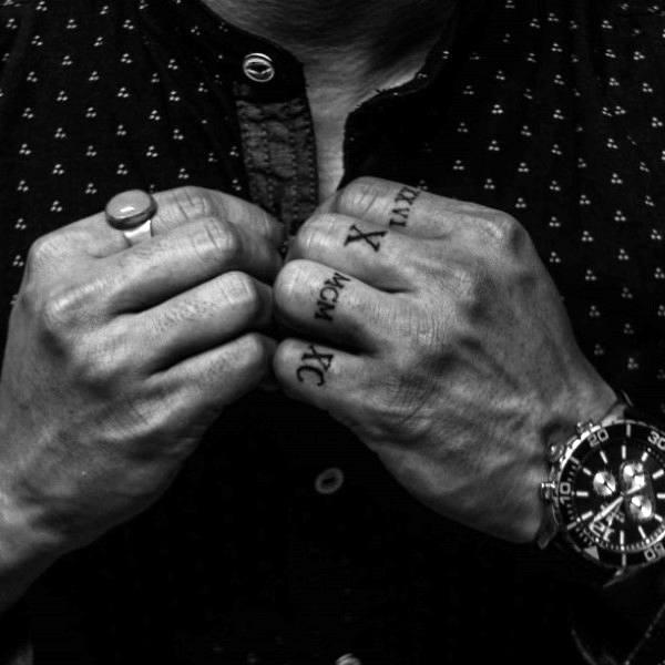 Finger Tattoos For Men Simple