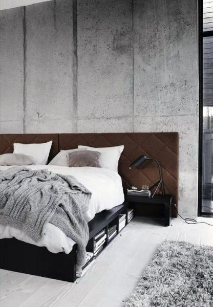 industrial grey bedroom 60 Men's Bedroom Ideas - Masculine Interior Design Inspiration