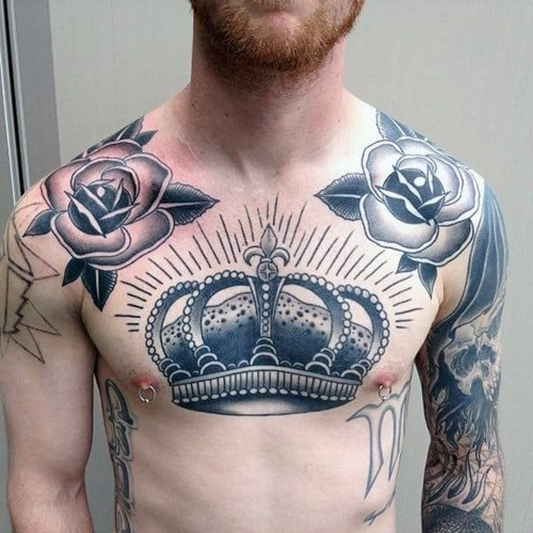 Rose Tattoo Under Collarbone