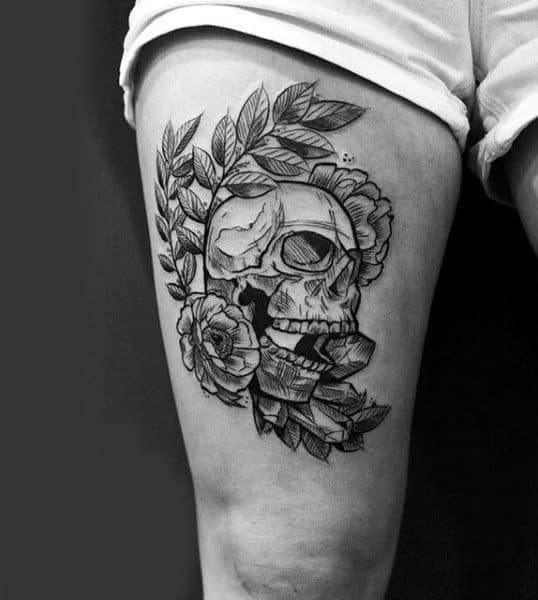 20 Simple Thigh Tattoos For Guys Ideas And Designs
