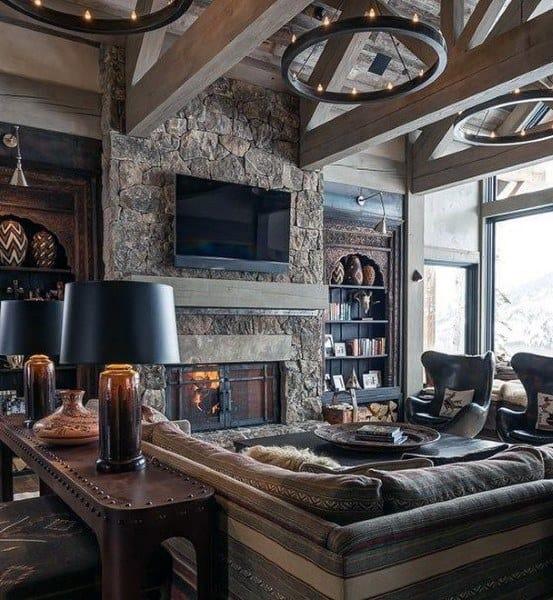 Lovely Cabin Living Room Ideas 50 Ideas Lclri Wtsenates Info