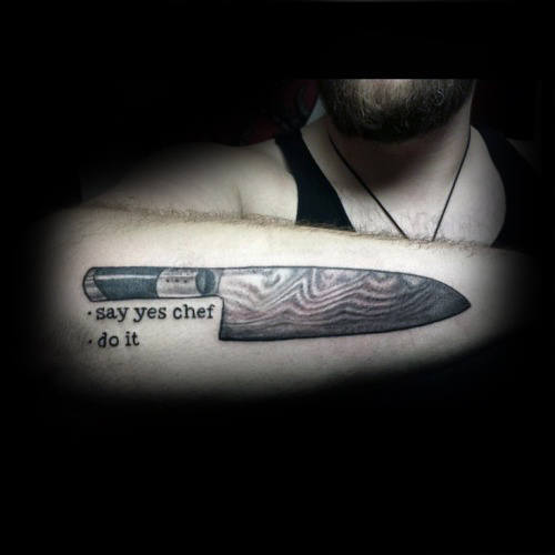 japanese kitchen knife set ikea cabinet handles 60 chef tattoo designs for men - cook ink ideas