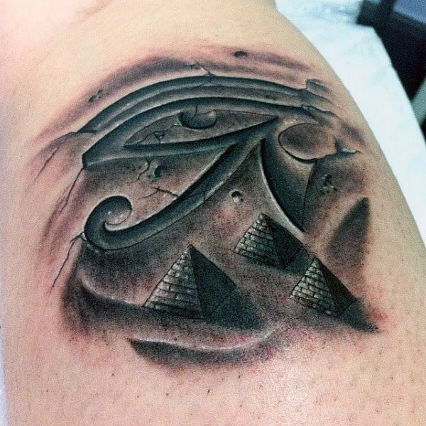 40 Pyramid Tattoo Designs For Men Ink Ideas With A