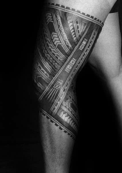 30 Tribal Thigh Tattoos For Men Manly Ink Ideas