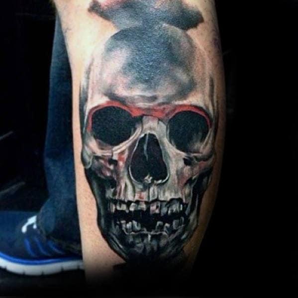 50 3d Leg Tattoo Designs For Men Manly Ink Ideas