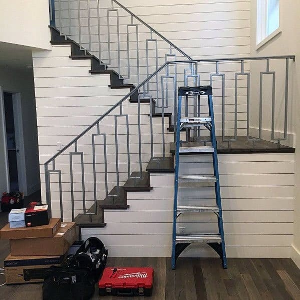 Top 70 Best Stair Railing Ideas Indoor Staircase Designs | Metal Railing Designs Stairs | Front Porch Stair Railing | Banister | Residential | Caramel | Rustic