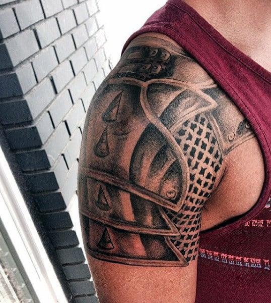 armor tattoo design