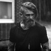 undercut with beard haircut