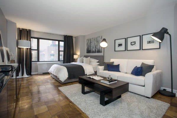 Simple Masculine Studio Apartment Ideas