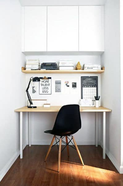 simple home office design ideas 75 Small Home Office Ideas For Men - Masculine Interior