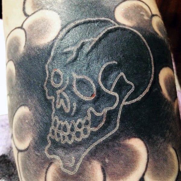 white ink tattoos men