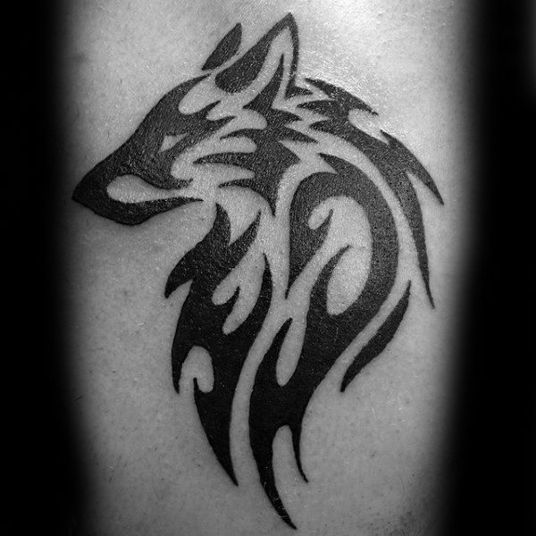 20 Cool Simple Wolf Tattoos For Men Ideas And Designs