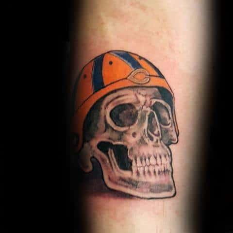 20 Football Skull Tattoos For Men Ideas And Designs