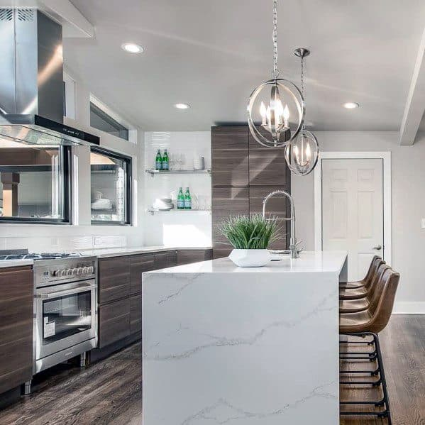 kitchen island light small tables and chairs top 50 best lighting ideas interior fixtures sleek