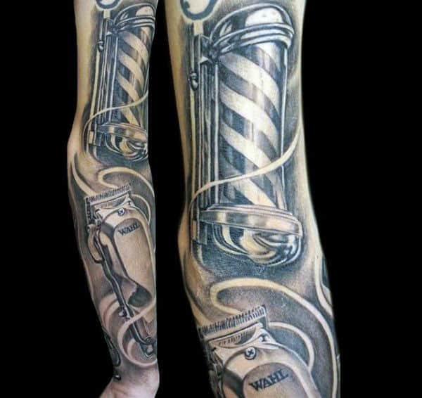 Barber Clipper Tattoo Designs