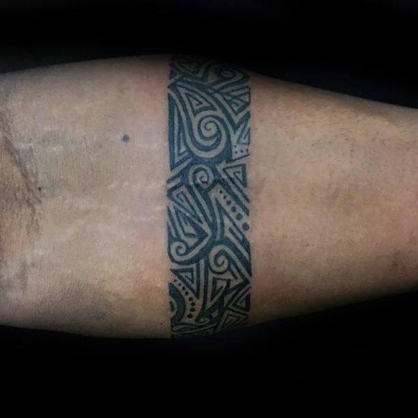 Round Tattoo On Forearm