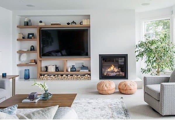 how to design living room with fireplace and tv modern wall art top 70 best ideas television designs small inspiration