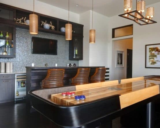 It's computerized to eliminate hu. 60 Game Room Ideas For Men - Cool Home Entertainment Designs