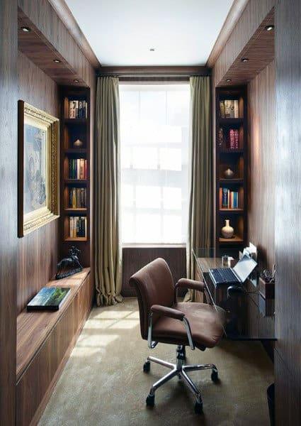small home office design ideas 75 Small Home Office Ideas For Men - Masculine Interior Designs