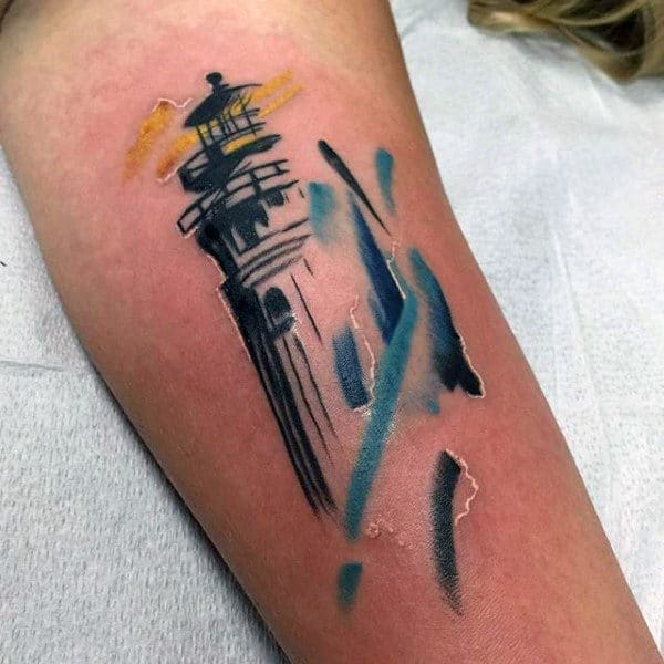 Watercolor Tattoo For Men Small