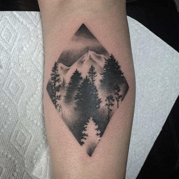 forearm tree tattoo design