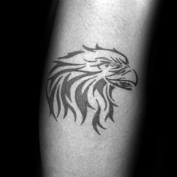 Simple Eagle Tattoo Tribal